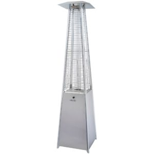 Lifestyle Tahiti II gas flame patio heater - stainless steel