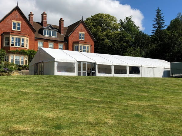 Large Marquee in rural setting
