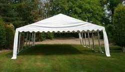 6m wide PVC marquee