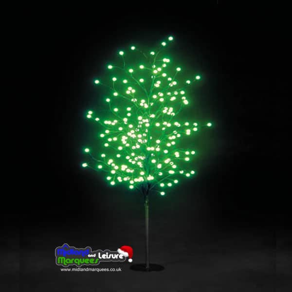 5ft LED Globe Tree in Blue