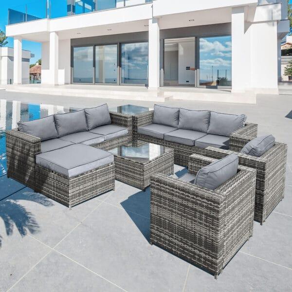 Oseasons® Malta rattan 9 seater lounge set