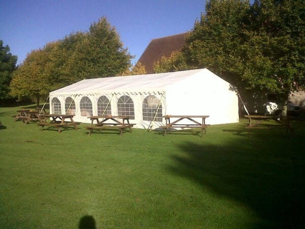 6m x 20m 500gsm PVC commercial marquee