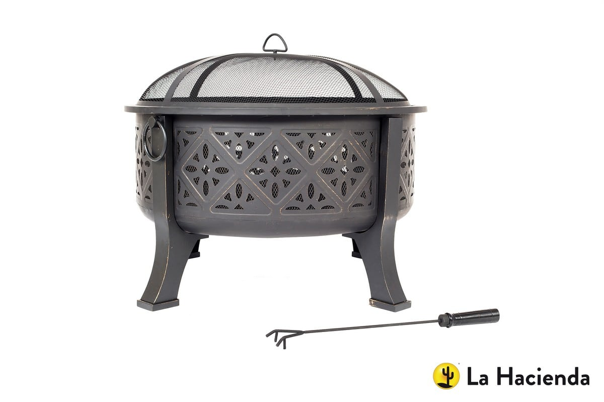 Moresque firepit with grill