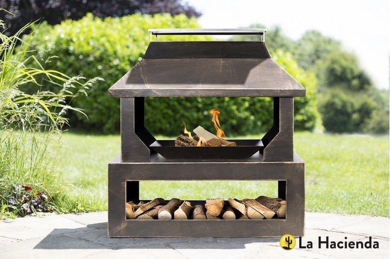 La Hacienda Stonehurst outdoor fireplace