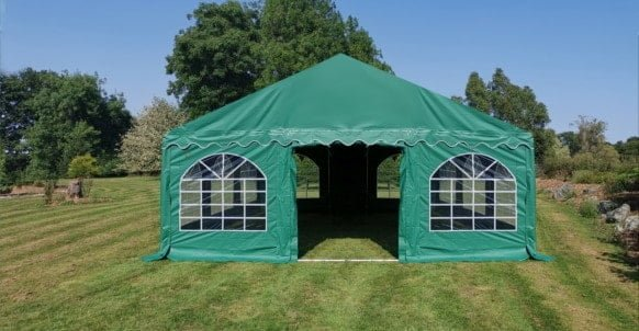green pvc marquee