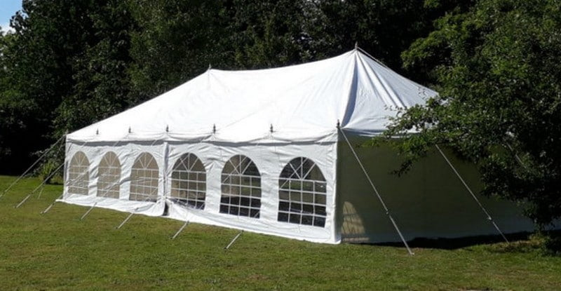6m x 12m traditional style marquee