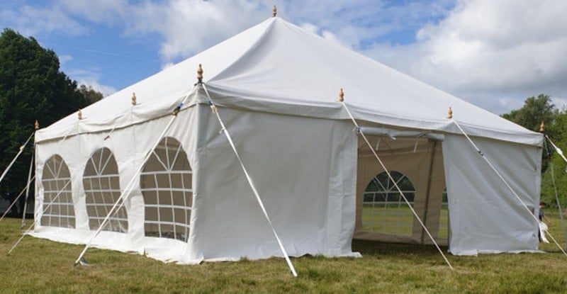 6m x 6m 500gsm PVC traditional style marquee