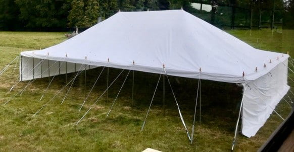 9m x 13.5m traditional style marquee
