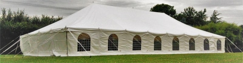 9mx18m Traditional style 500gsm PVC marquee