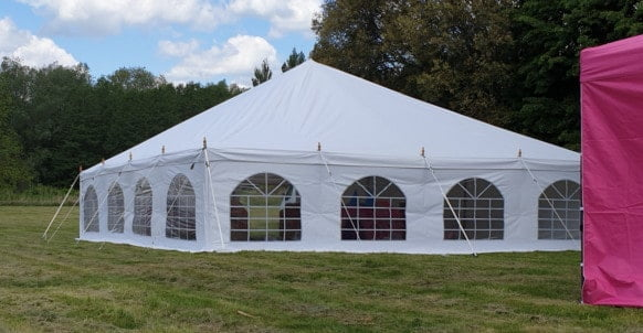 9m x 9m traditional style 500gsm PVC marquee