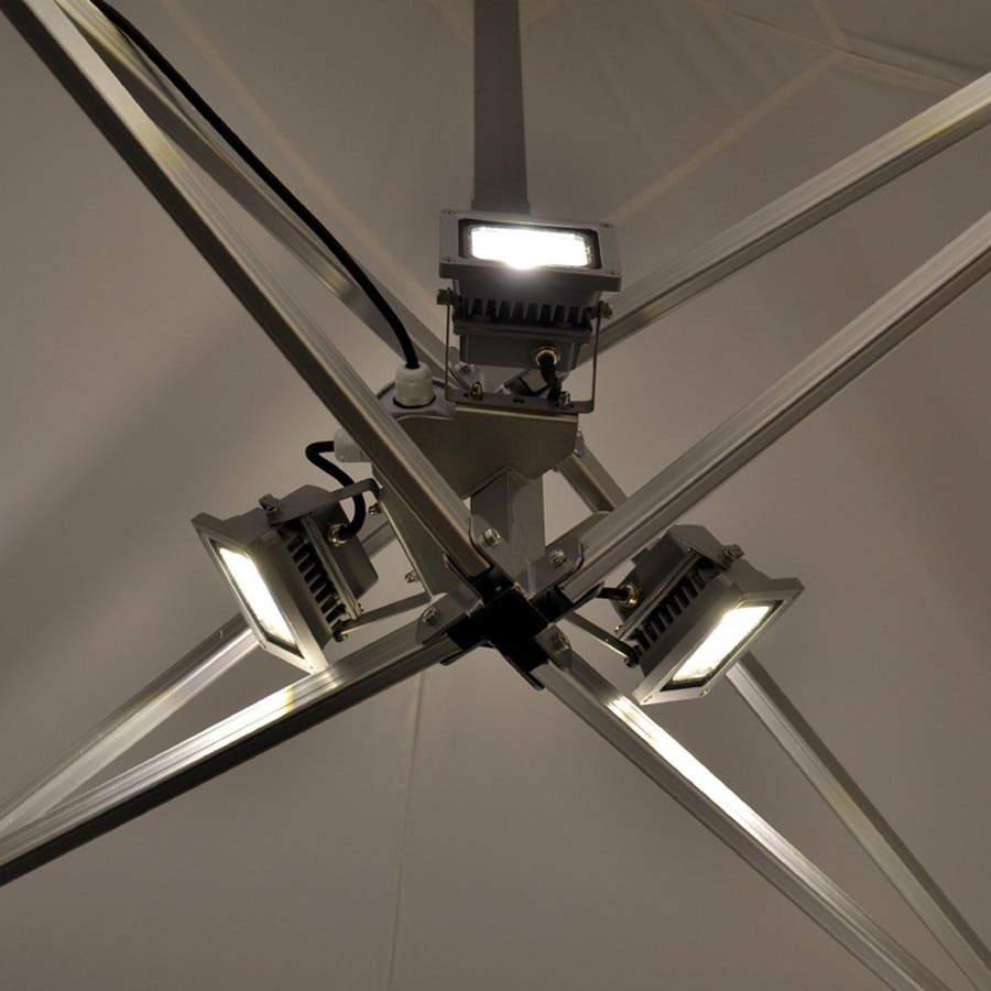 3 way LED light for instant shelters