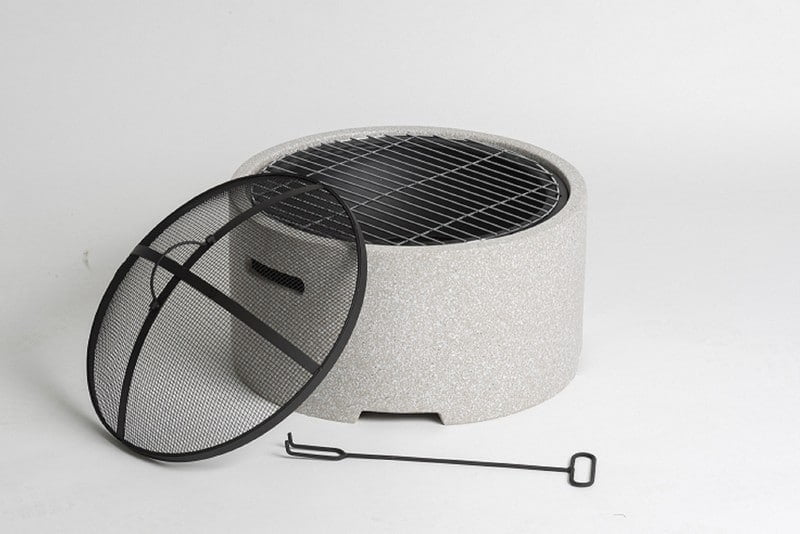 Lifestyle Adena firepit with grill