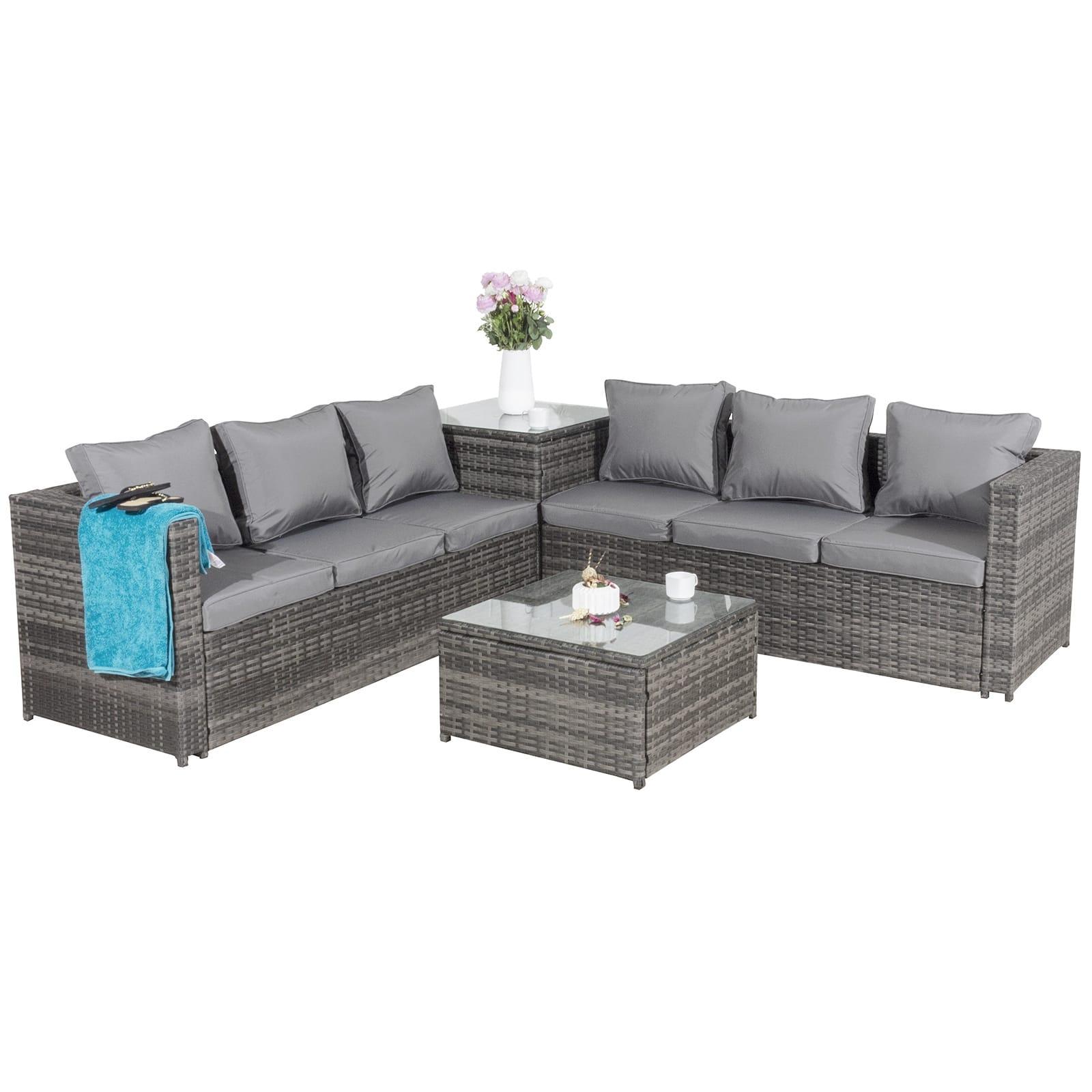 Oseasons® Malta rattan 6 seater corner sofa set