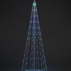 Snowtime 1.8m LED Christmas cone tree with 140 LEDs and remote control