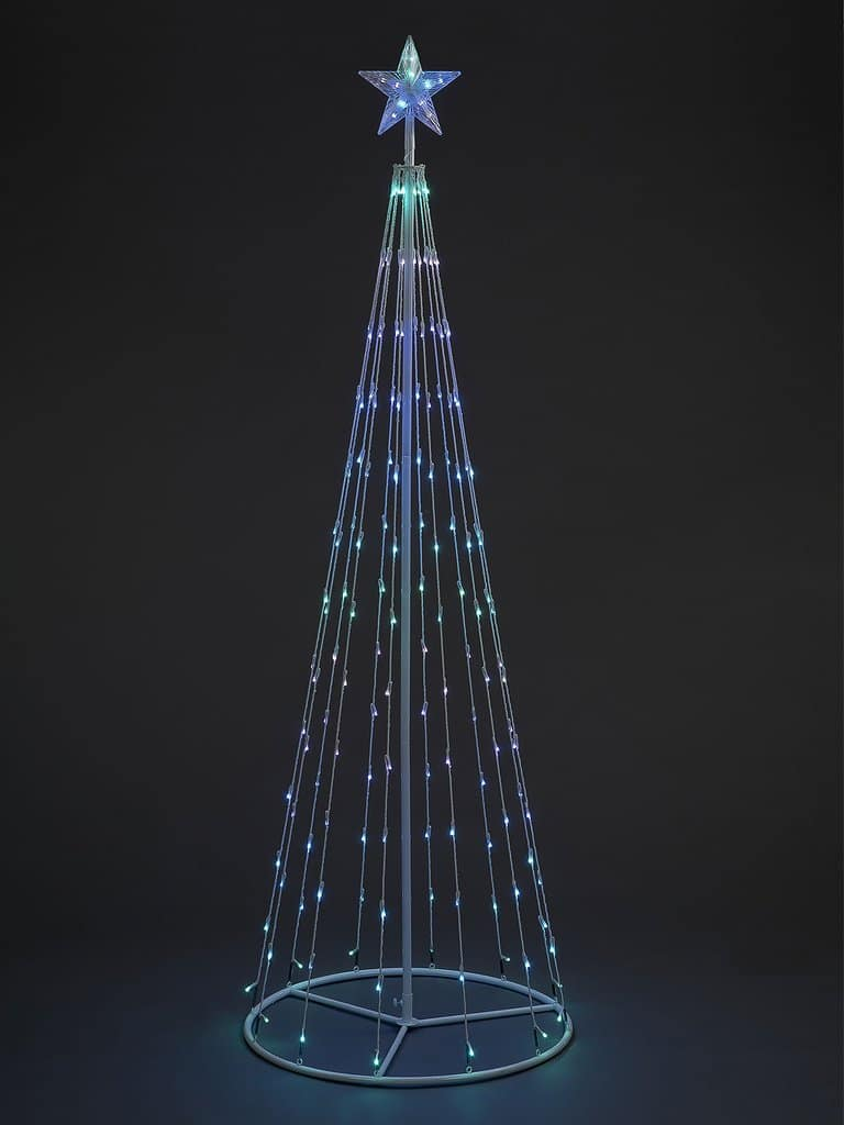 1.8m LED cone tree with 140 LEDs and remote control