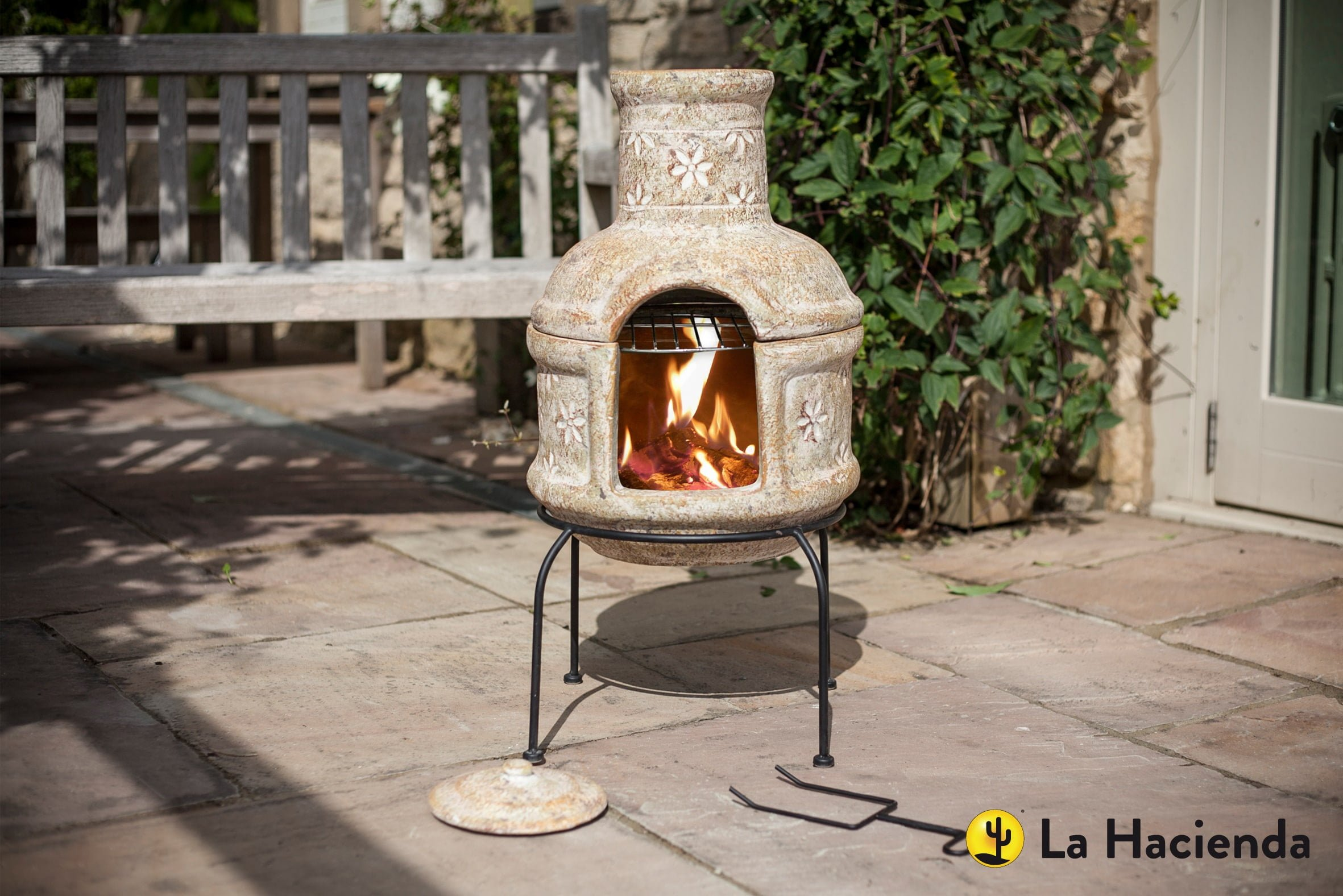 Star Flower Chimnea with Grill