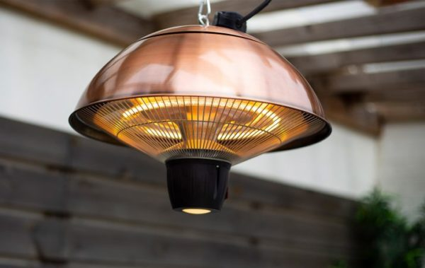 La Hacienda mushroom hanging patio heater - copper