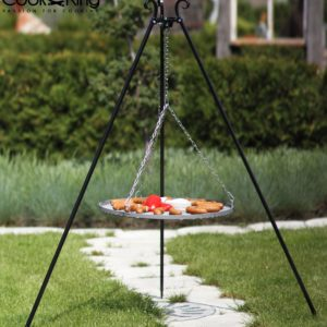 Cook King steel grate tripod with grill